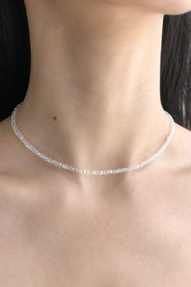 Crystal Choker Necklace (White)