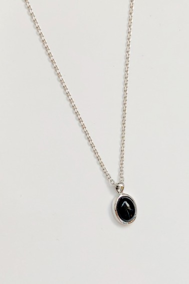 Simple Onyx Necklace Set