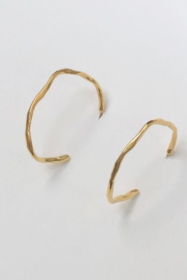 Unique Thin Ring Earring